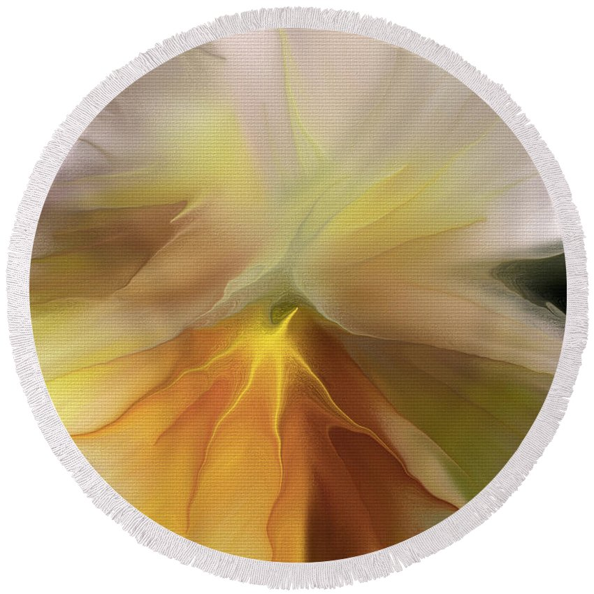Pansy Round Beach Towel featuring the photograph Pansy Art by Deborah Benoit