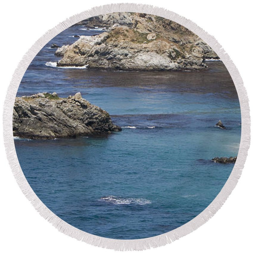 Scenic Photographs Round Beach Towel featuring the photograph Paradise Beach by David Millenheft
