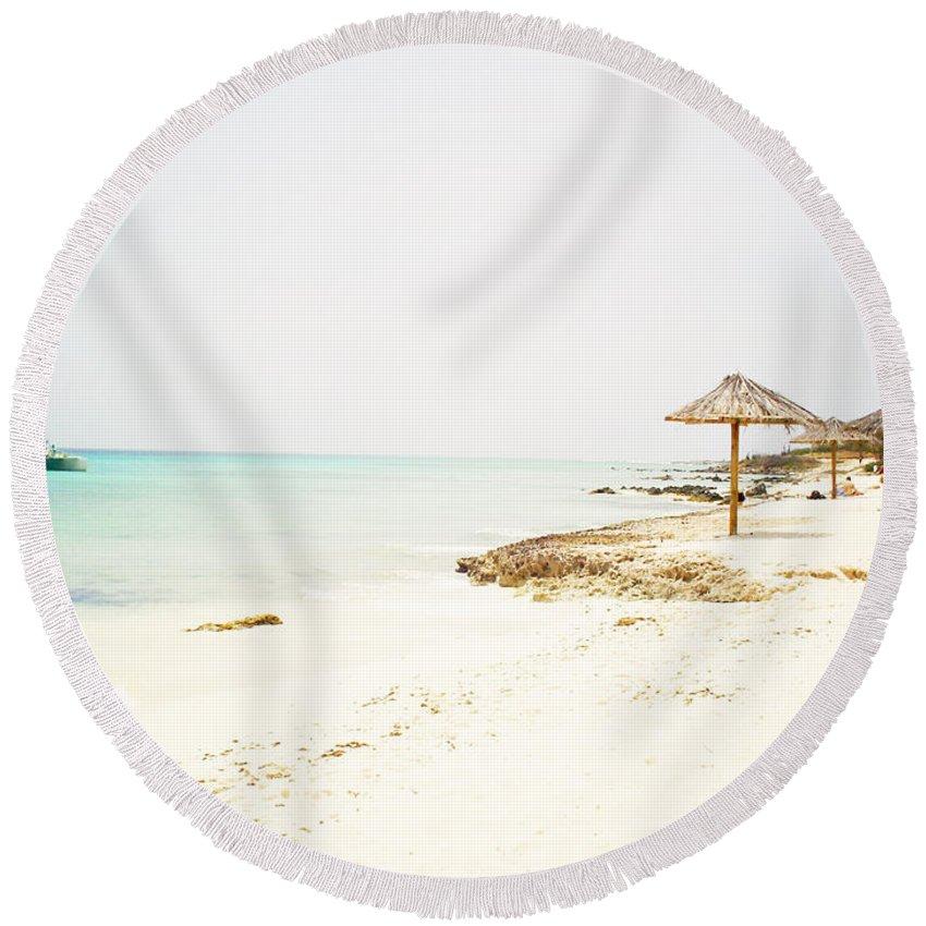 Beach Round Beach Towel featuring the photograph Paradise Beach by Todd and Ashleigh Madsen