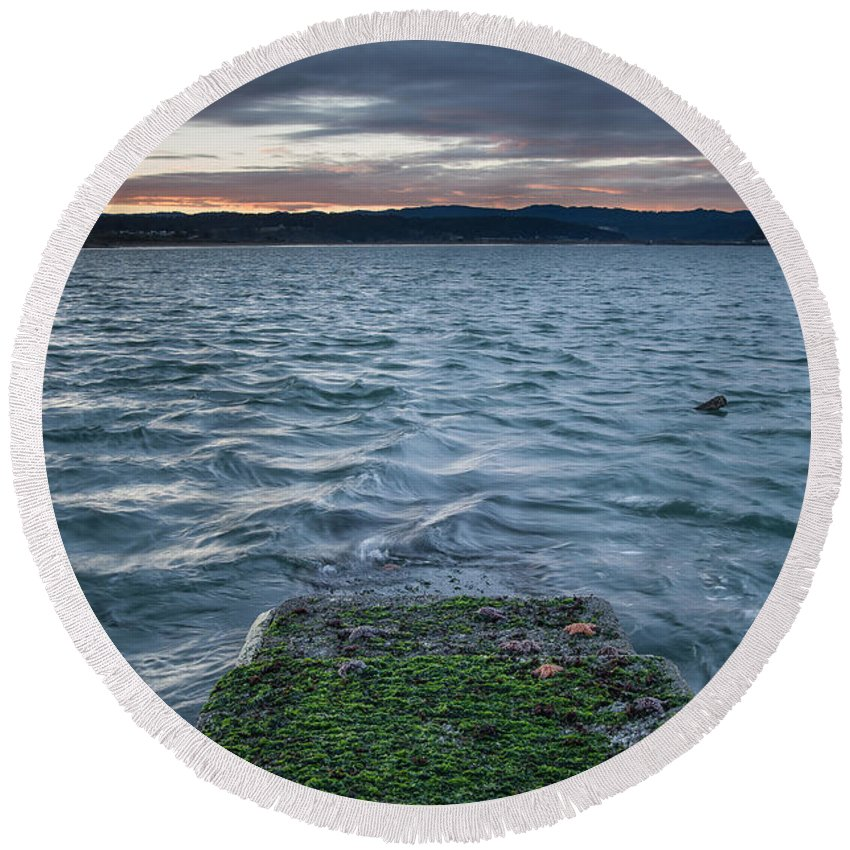Humboldt Bay Round Beach Towel featuring the photograph Path To The Bay by Greg Nyquist