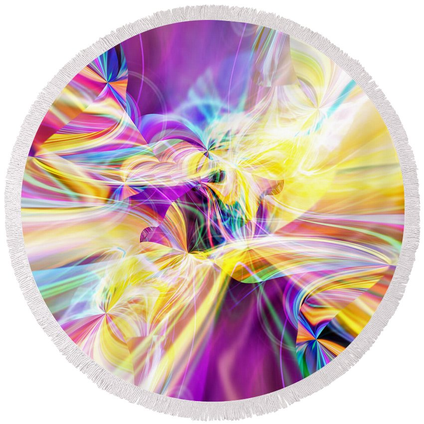Peace Round Beach Towel featuring the digital art Peace by Margie Chapman