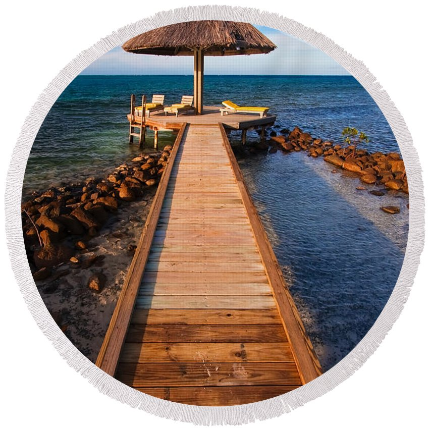 3scape Round Beach Towel featuring the photograph Perfect Vacation by Adam Romanowicz