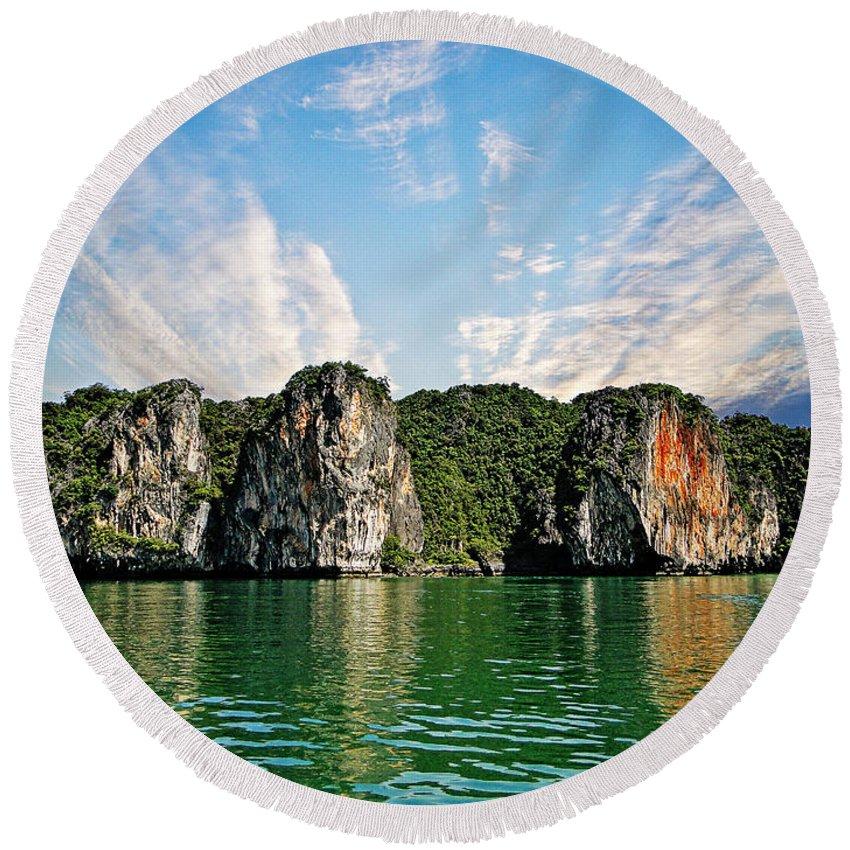 Thailand Round Beach Towel featuring the photograph Phuket 2 by Ben Yassa