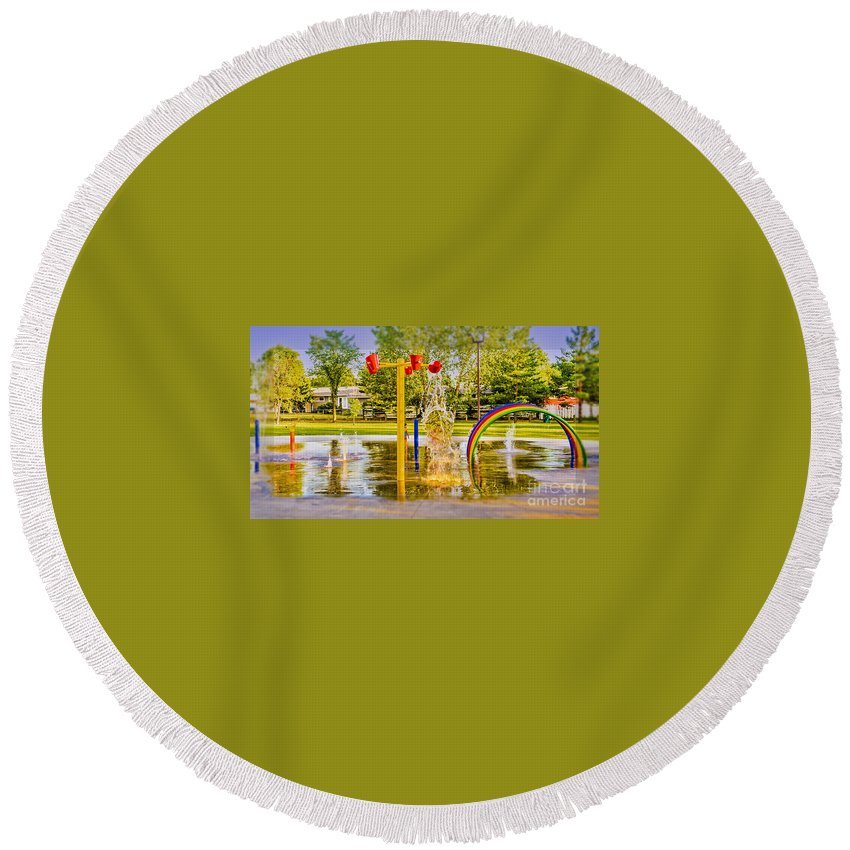Playground Round Beach Towel featuring the photograph Playground by Viktor Birkus