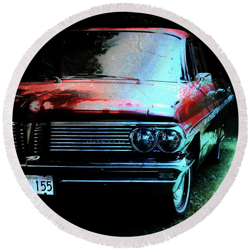 Pontiac Round Beach Towel featuring the photograph Pontiac Shade N Sun by The Artist Project