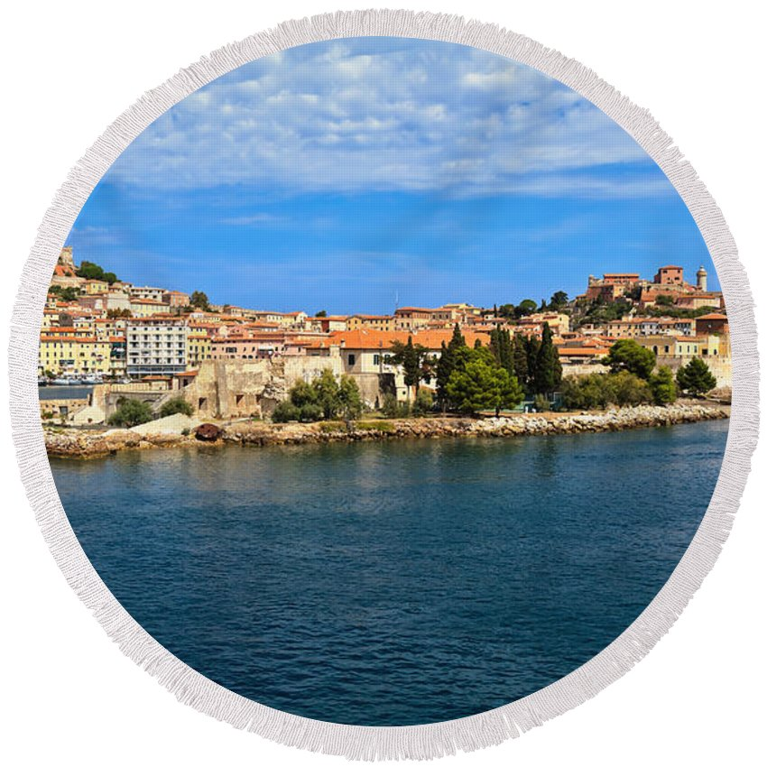 Italy Round Beach Towel featuring the photograph Portoferraio - Elba Island by Antonio Scarpi