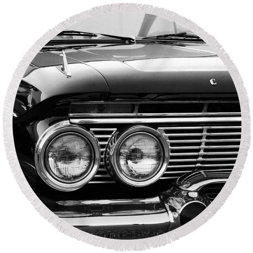 Chevy Round Beach Towel featuring the photograph Pretty Chevy by Beverly Stapleton
