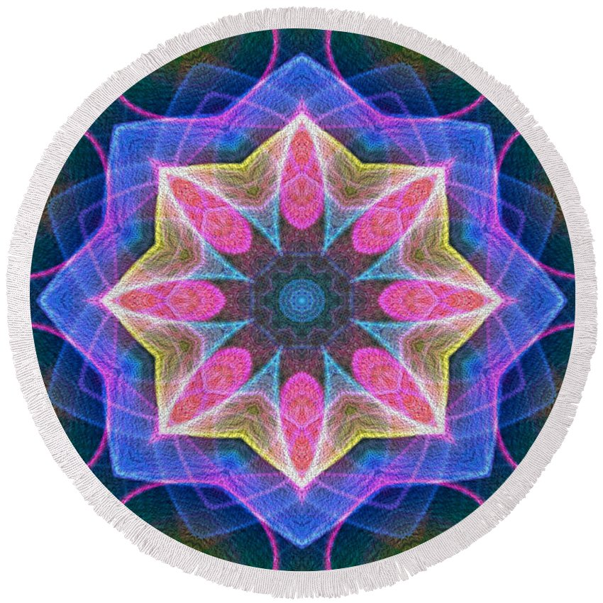 Series Echo Round Beach Towel featuring the digital art Pretty by Owlspook