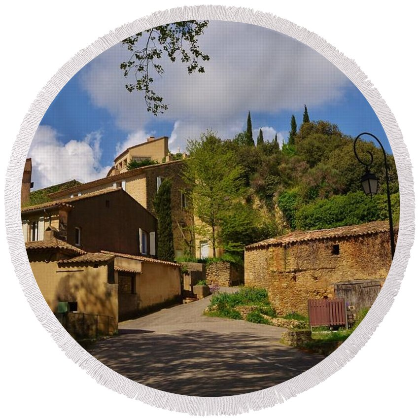 Provence Round Beach Towel featuring the photograph Provencal Village by Dany Lison