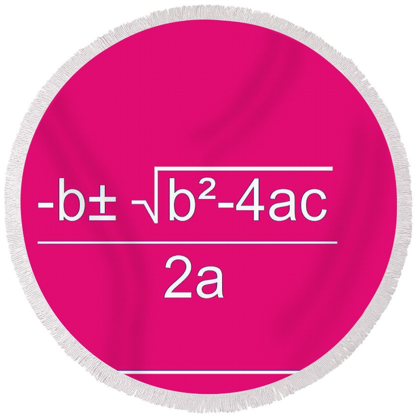 Featured Round Beach Towel featuring the digital art Quadratic Equation by Paulette B Wright