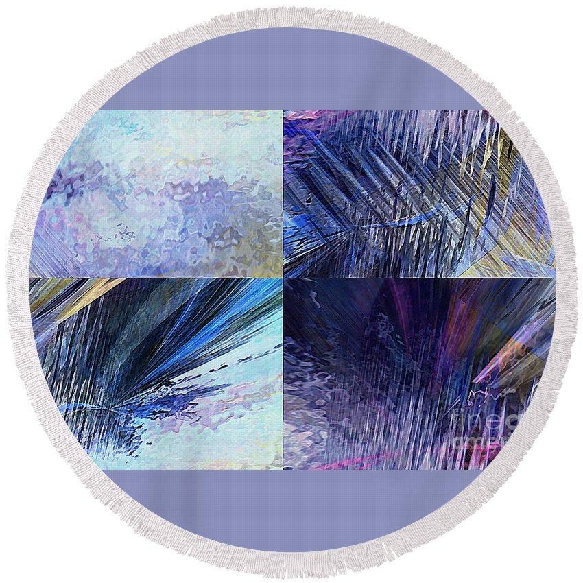 Hotel Art Round Beach Towel featuring the digital art Quartet by Margie Chapman