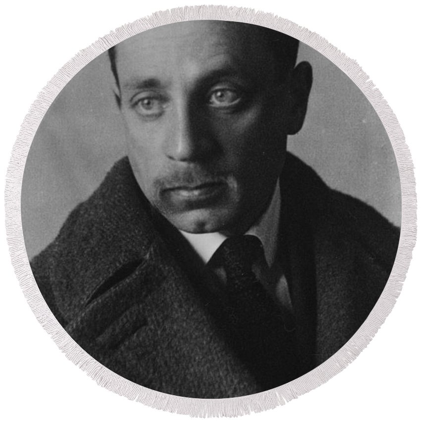 Rainer Maria Rilke Round Beach Towel featuring the photograph Rainer Maria Rilke by German Photographer