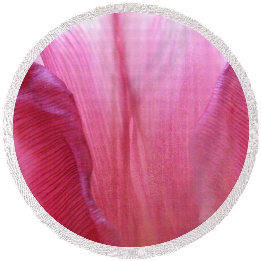 Pink Round Beach Towel featuring the photograph Re-enforcements In Pink by Brian Boyle