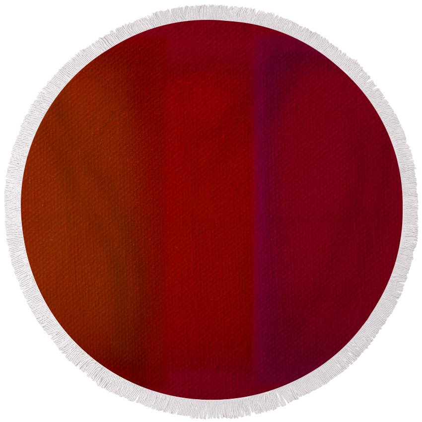 Rothko Round Beach Towel featuring the painting Red by Charles Stuart