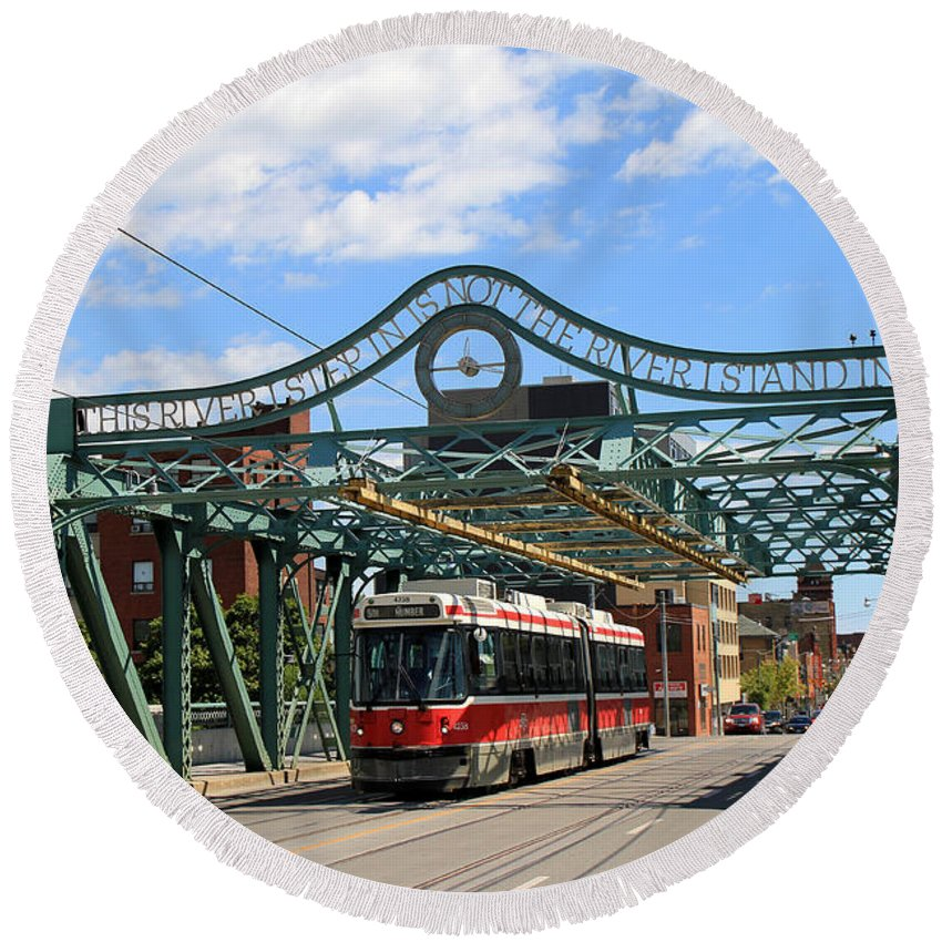 Ttc Round Beach Towel featuring the photograph Red Rocket 5 by Andrew Fare