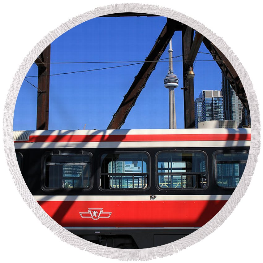 Ttc Round Beach Towel featuring the photograph Red Rocket 8 by Andrew Fare