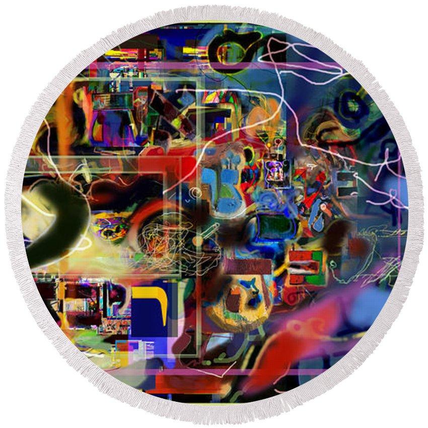 Round Beach Towel featuring the digital art Redemption Prayer 14 Za by David Baruch Wolk
