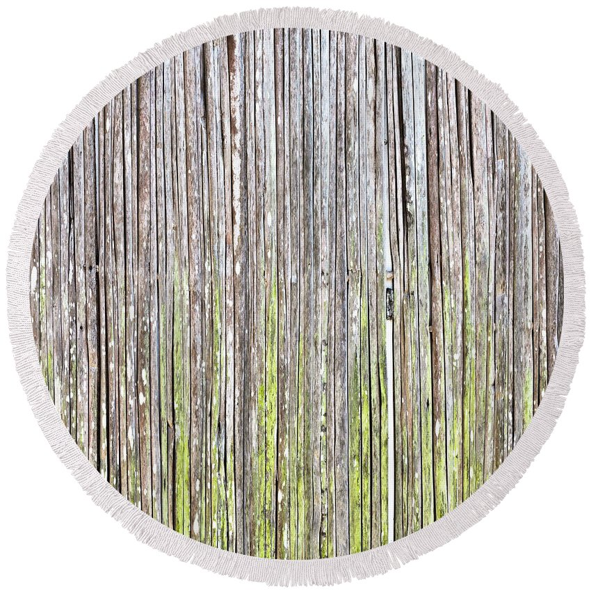 Abstract Round Beach Towel featuring the photograph Reeds Background by Tom Gowanlock