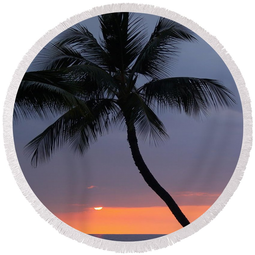 Sunset Round Beach Towel featuring the photograph Reflections by Athala Carole Bruckner