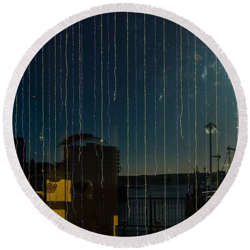 Apartments Round Beach Towel featuring the photograph Reflections by Mark Llewellyn
