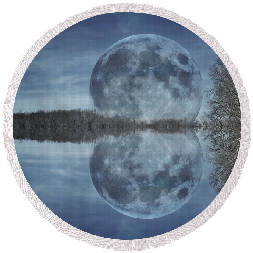 Full Round Beach Towel featuring the photograph Reflective Paradise by Betsy Knapp