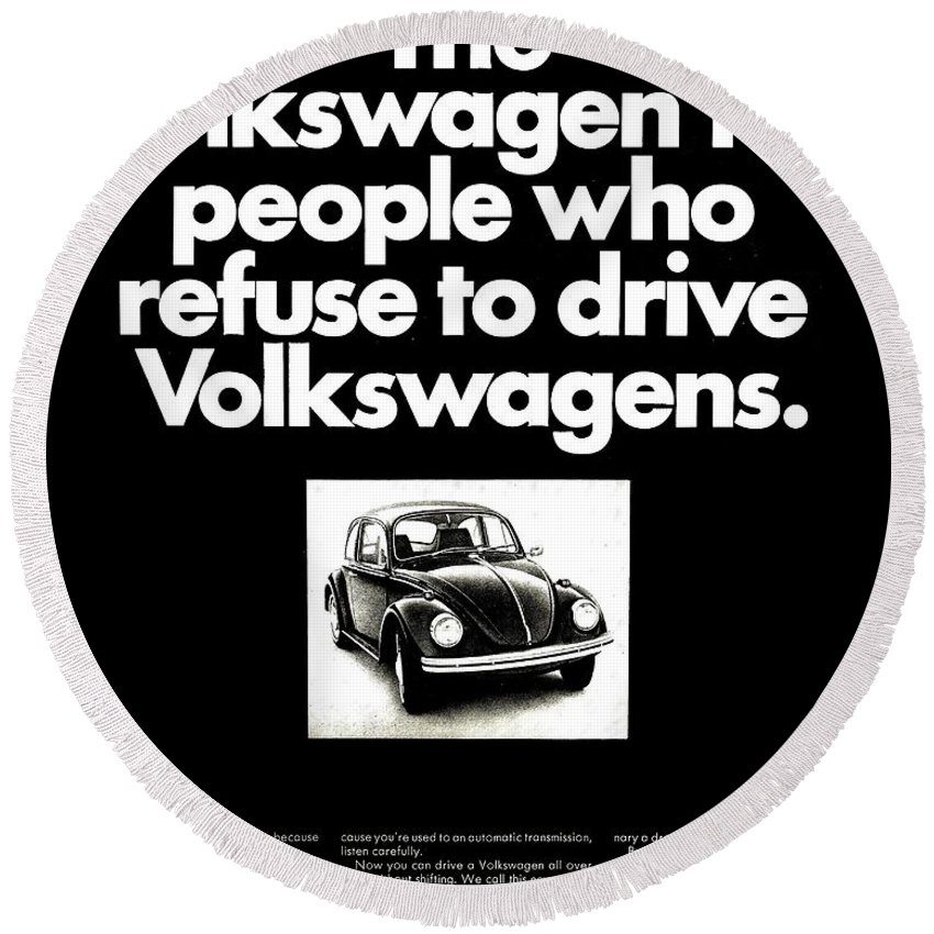 Volkswagen Round Beach Towel featuring the photograph Refusers by Benjamin Yeager
