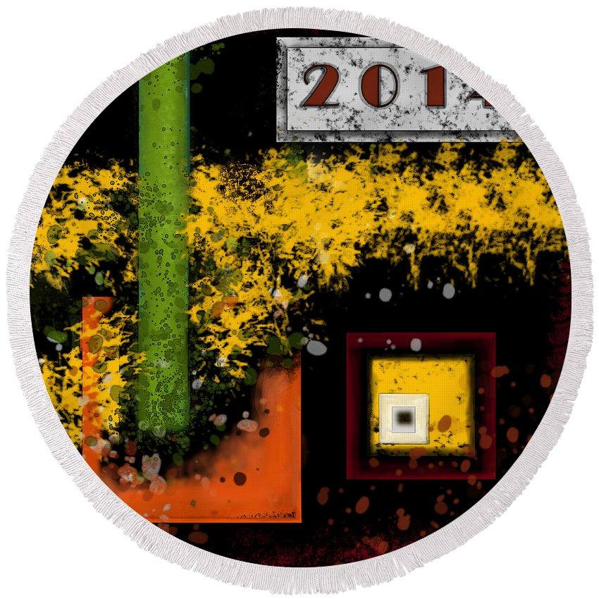 2014 Round Beach Towel featuring the digital art Requiem 2014 by Carol Jacobs