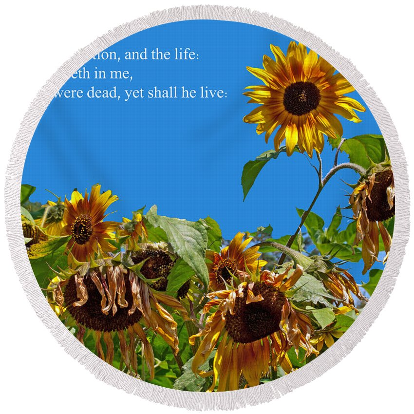 Firstfruits Round Beach Towel featuring the photograph Resurrected Life by Tikvah's Hope