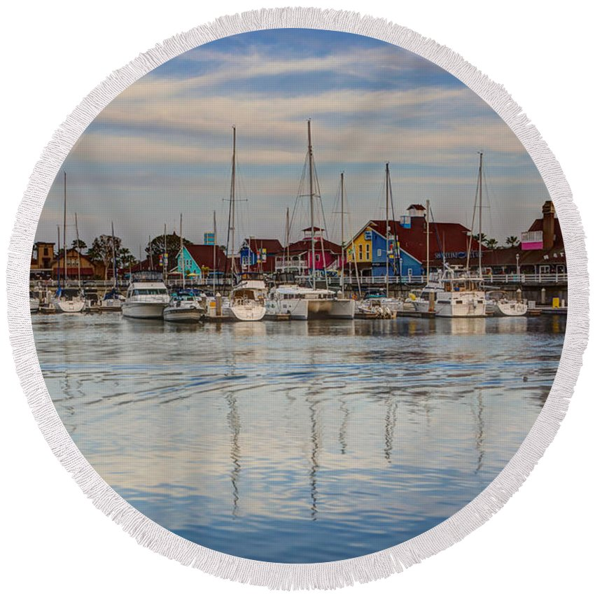 America Round Beach Towel featuring the photograph Ripples by Heidi Smith