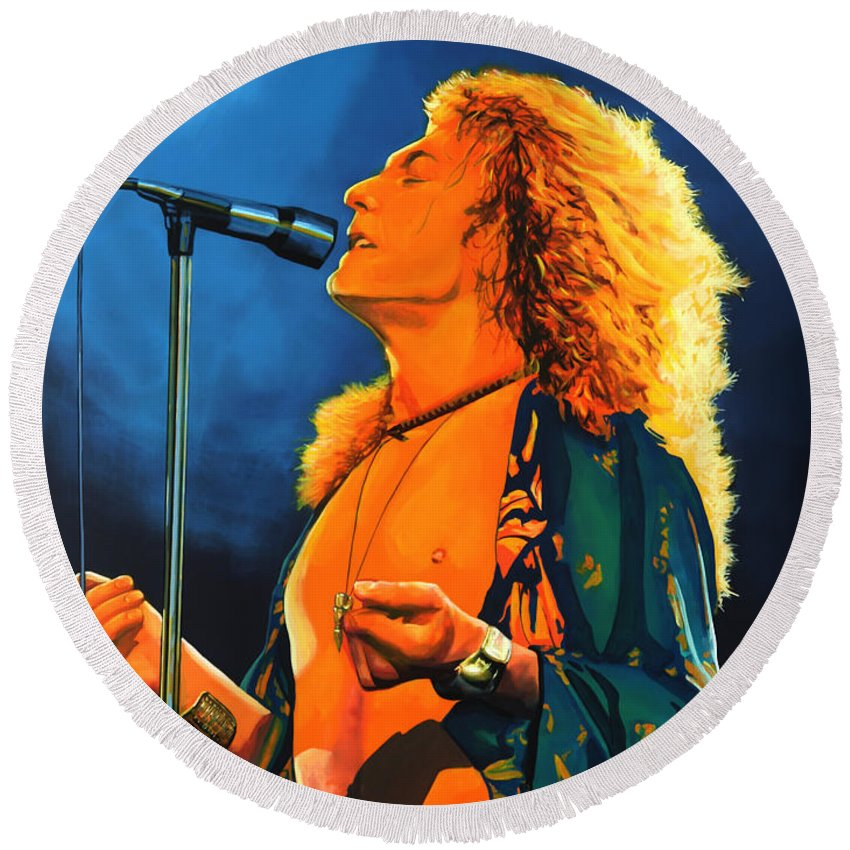 Robert Plant Round Beach Towels