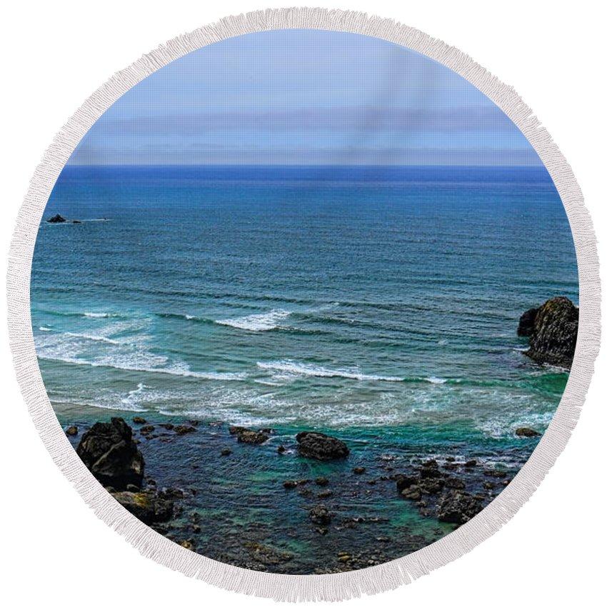 Dale Kauzlaric Round Beach Towel featuring the photograph Indian Beach by Dale Kauzlaric