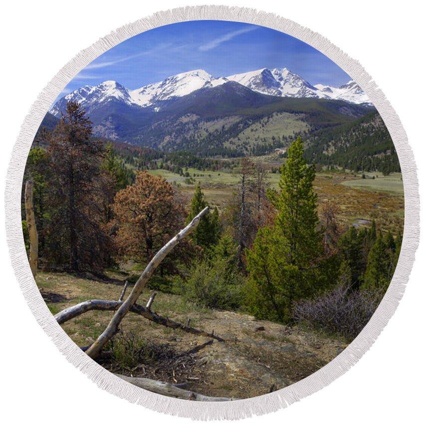 Rocky Mountain National Park Round Beach Towel featuring the photograph Rocky Mountain National Park by Joan Carroll