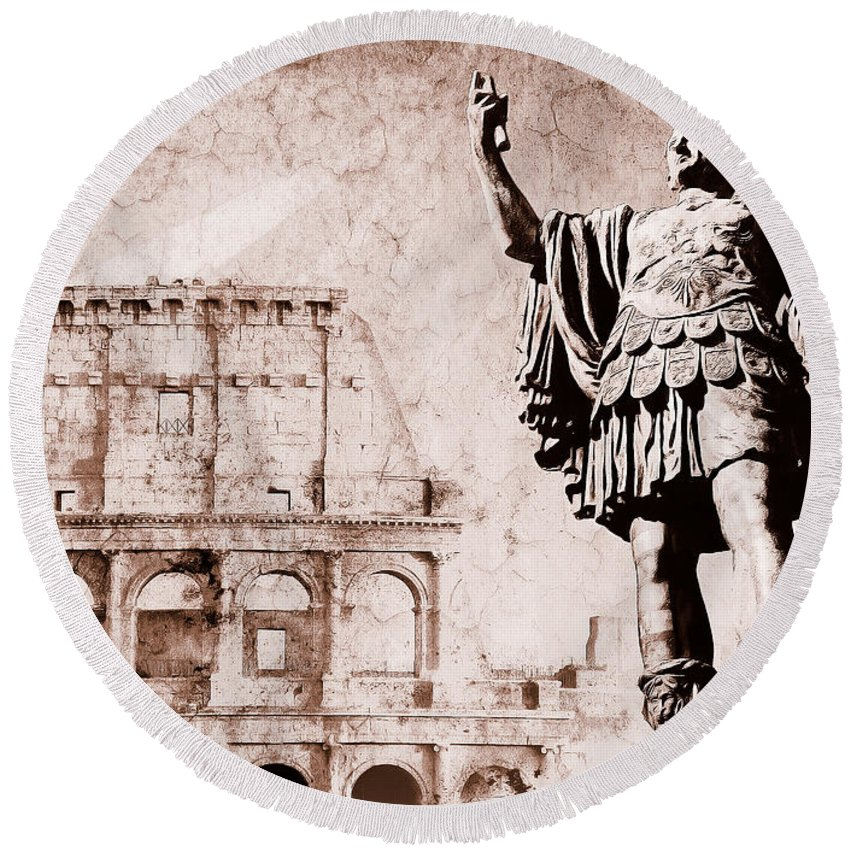 Roma Round Beach Towel featuring the photograph Roman Empire by Stefano Senise