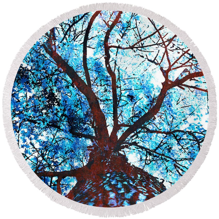Tree Round Beach Towel featuring the photograph Roots To Branches II by Floyd Menezes