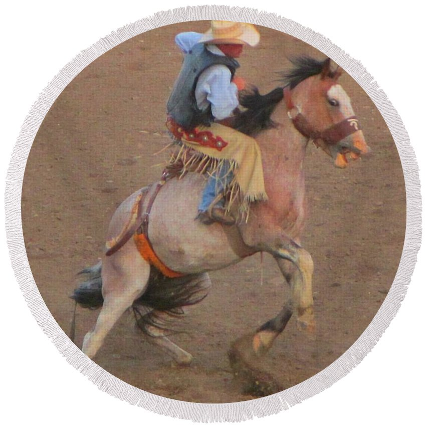 Rough Ride Two Round Beach Towel featuring the photograph Rough Ride Two by John Malone