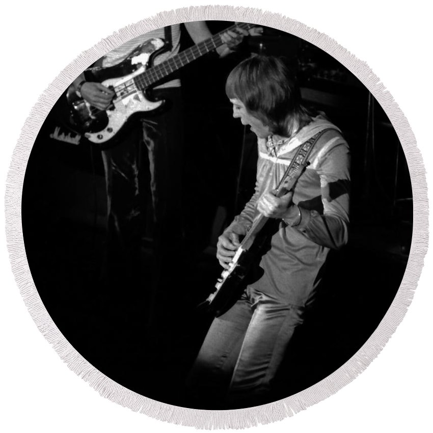 Robin Trower Round Beach Towel featuring the photograph Rt #13 by Ben Upham