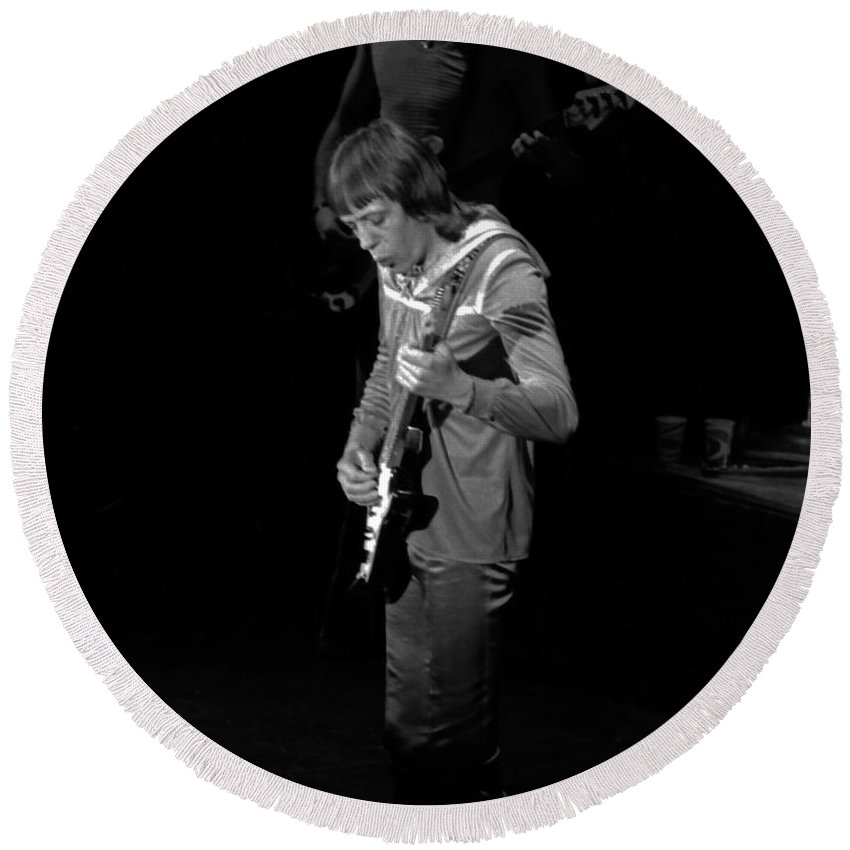 Robin Trower Round Beach Towel featuring the photograph Rt #14 by Ben Upham