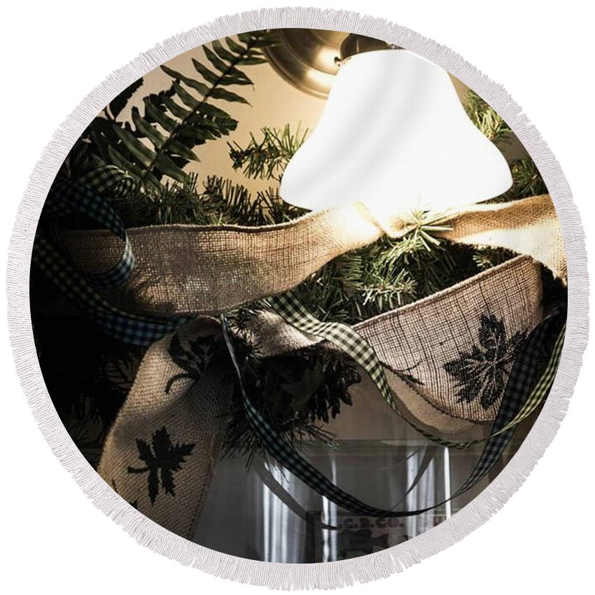 Rustic Round Beach Towel featuring the photograph Rustic Holiday by Patricia Babbitt