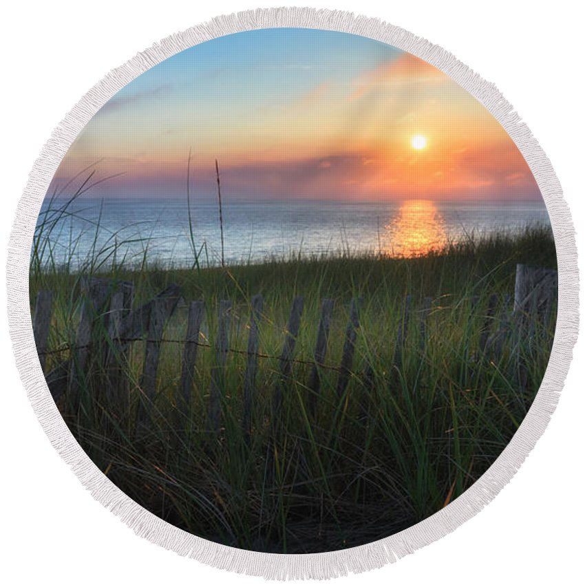 Cape Cod Seascape Round Beach Towel featuring the photograph Salty Air by Bill Wakeley