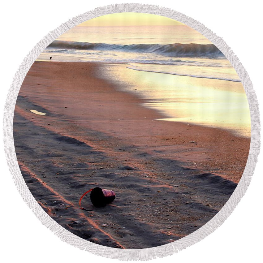 Topsail Round Beach Towel featuring the photograph End Of Summer by Rand Wall