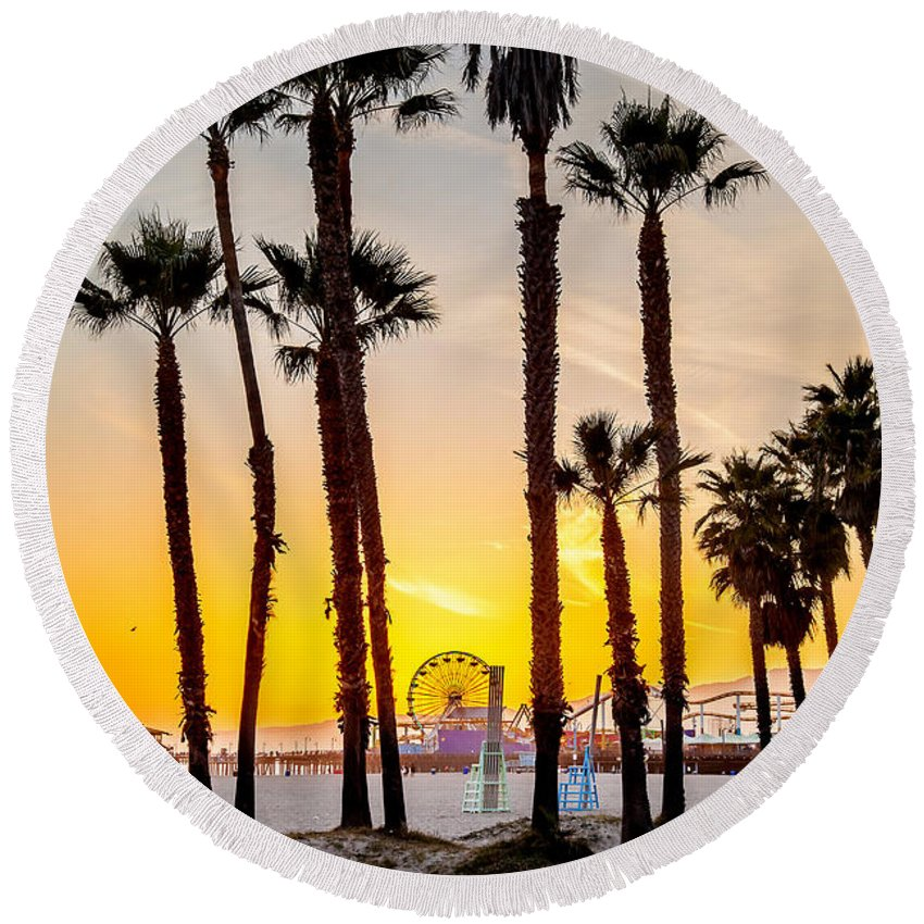 Venice Beach Round Beach Towels