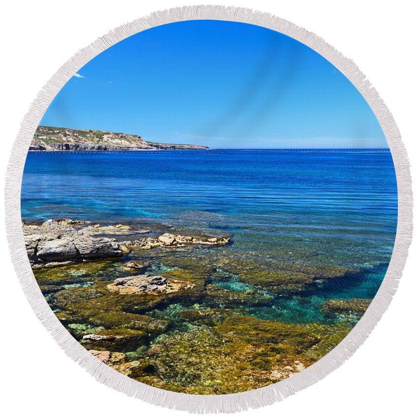Sardinia Round Beach Towel featuring the photograph Sardinia - Shore In San Pietro Island by Antonio Scarpi