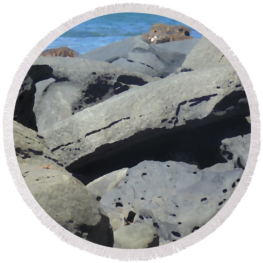 Photography Round Beach Towel featuring the photograph Sea Life 3 by Marcello Cicchini