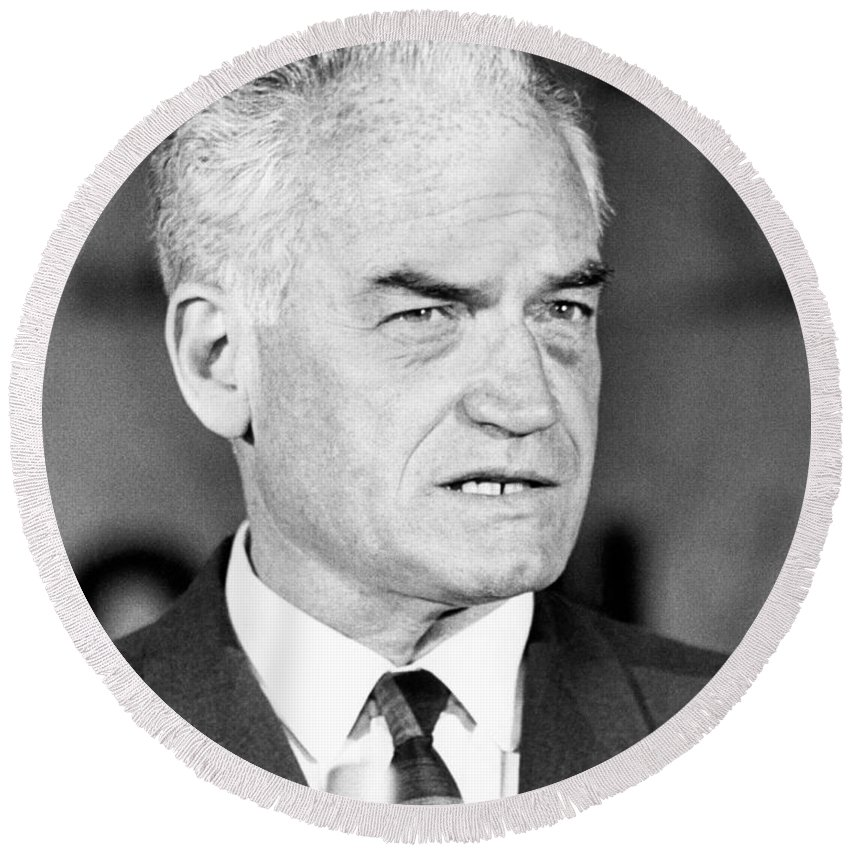 1964 Round Beach Towel featuring the photograph Senator Barry Goldwater by Underwood Archives