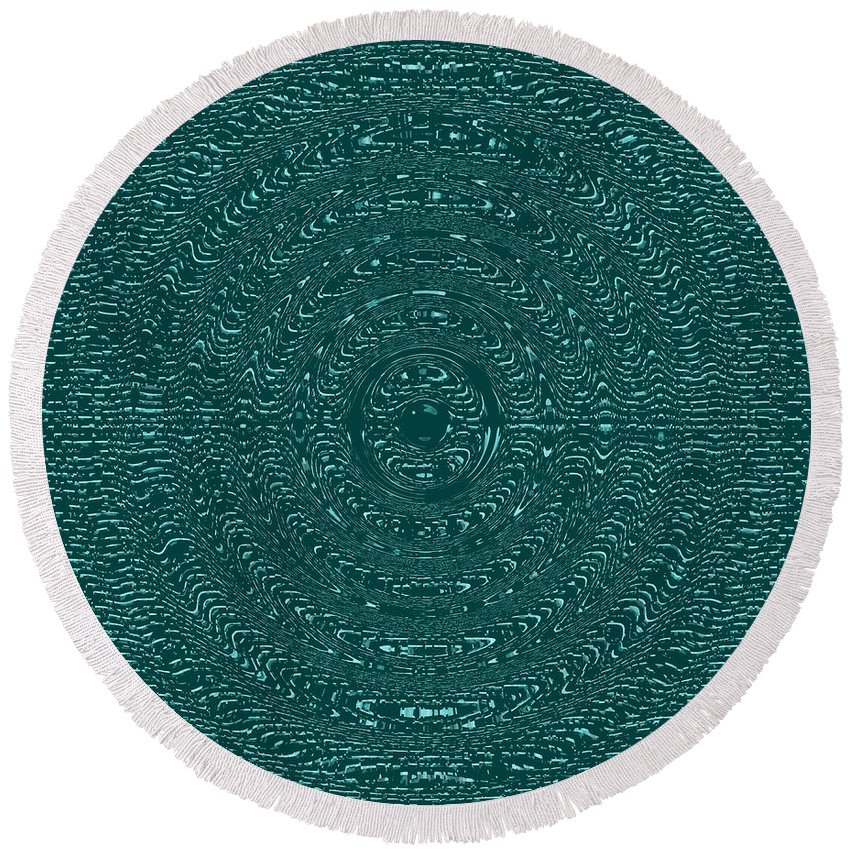 Aqua Round Beach Towel featuring the photograph Serenity Blue by Joseph Baril