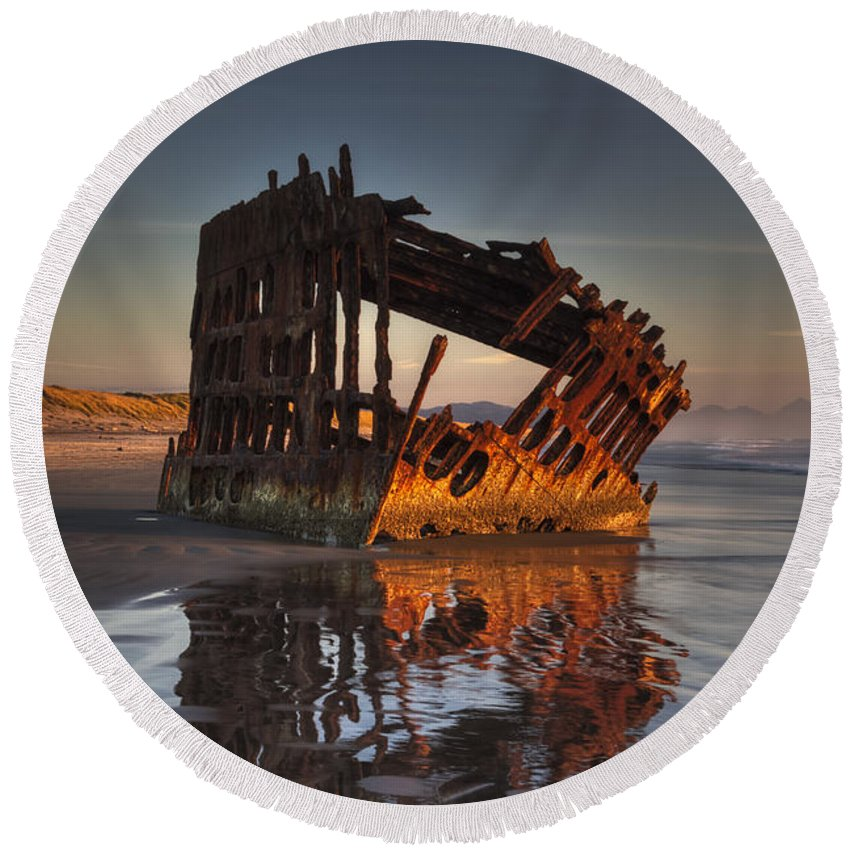 Peter Iredale Round Beach Towels