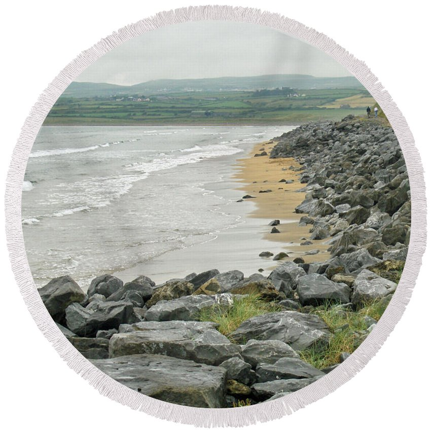 Ireland Round Beach Towel featuring the photograph Shores Of Ireland by Brenda Brown