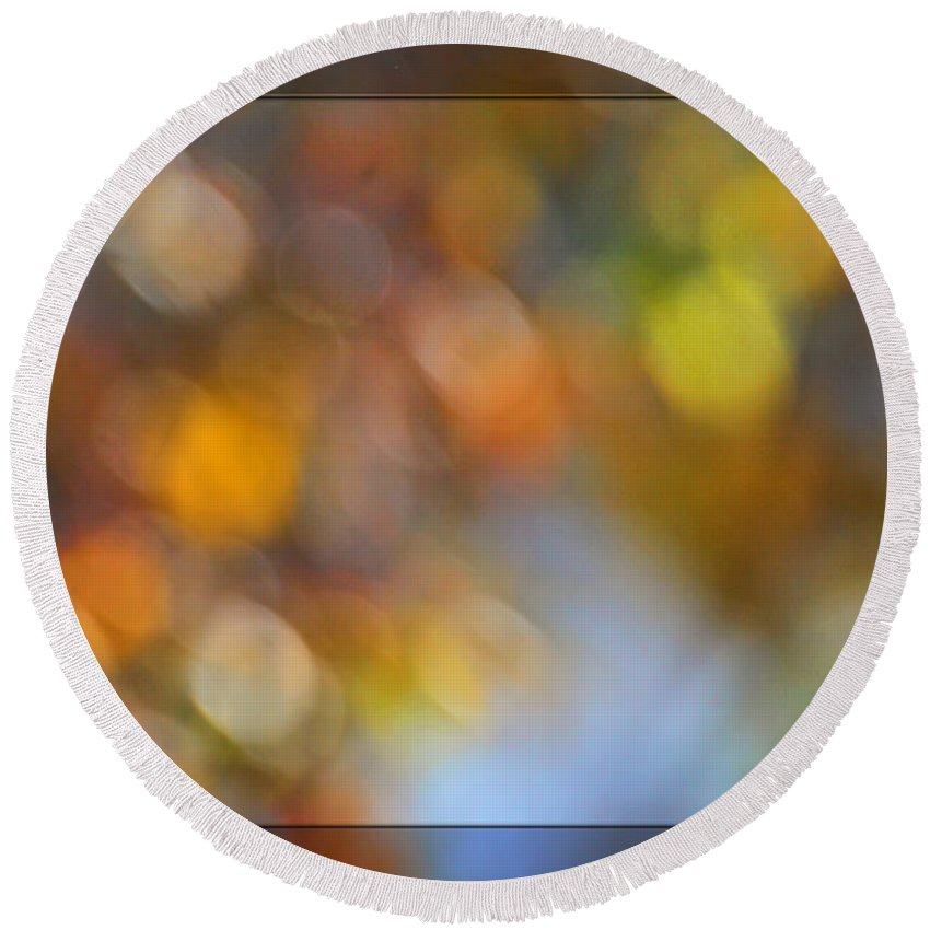 Nature Round Beach Towel featuring the photograph Simply Autumn Bokeh by Debbie Portwood