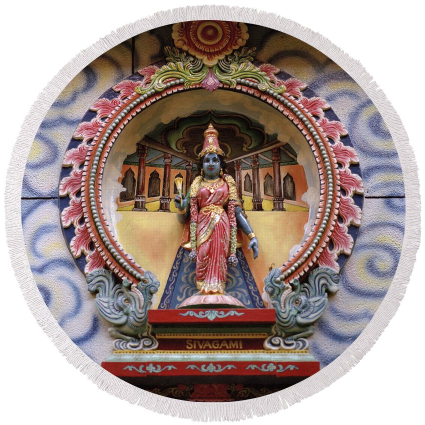 Asia Round Beach Towel featuring the photograph Sivagami by Shaun Higson