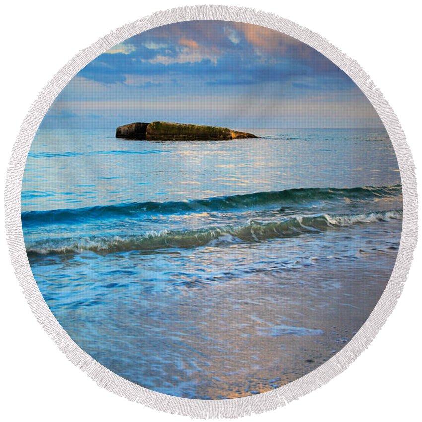 Danish Round Beach Towel featuring the photograph Skagen Light by Inge Johnsson